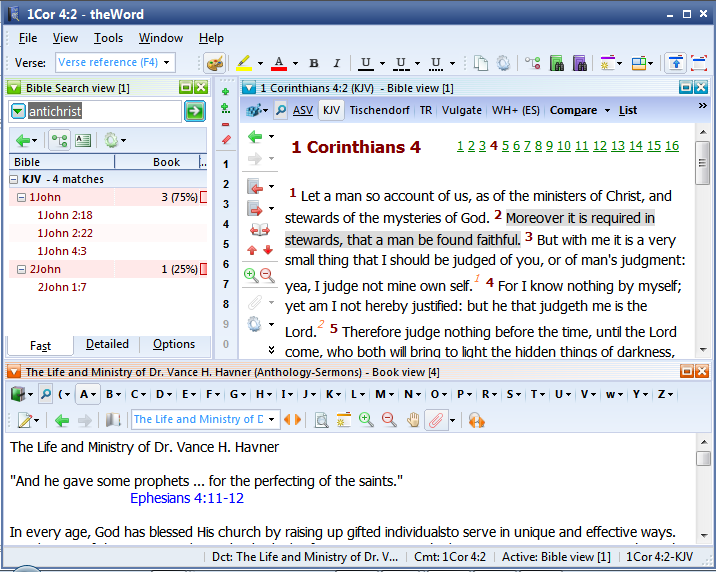 Layout: Bible, Commentary, BookView - TheWord Tutorial