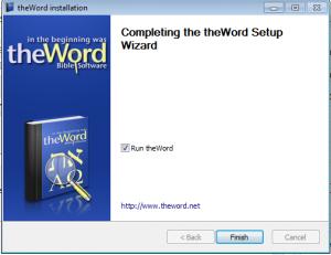 Install theWord USB mode