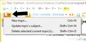 create new topic