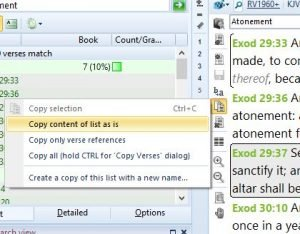 theWord copying a verse list to a file