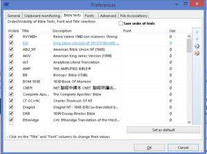 Bibleview Preferences