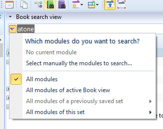 Book search choose what modules theWord